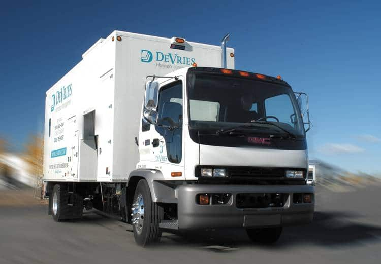 DeVries onsite mobile shred truck