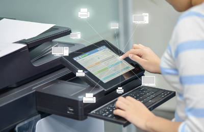 Person Using A Document Scanner