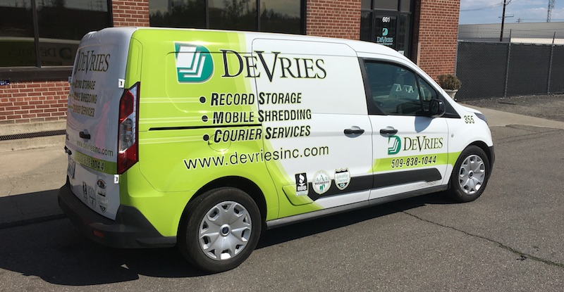 DeVries Cargo Van at Building 2