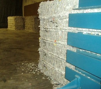 DeVries Baler Shredded Fiber